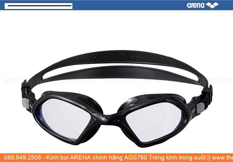 Kính bơi ARENA chính hãng AGS760 Tròng kính trong suốt 263020M5F